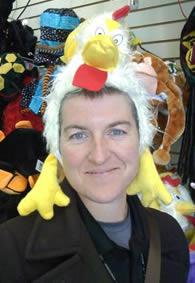 Rachel Dickson, artist, outdoor enthusiast, goofball